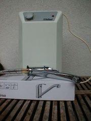 Vaillant Warmwasserspeicher und Tirso Küchenarmatur