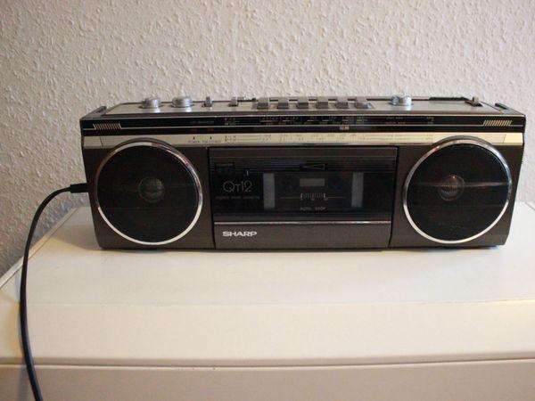 Radiocassettenrecorder Sharp QT12
