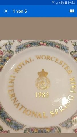 Bild 4 - 1X Sammelteller Royal Worcester 1985 - Wöllstadt Nieder-Wöllstadt