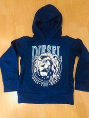 Diesel Hoddy Blau mit Taschen