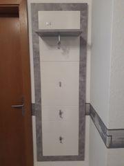 Garderobe Set grau weiss