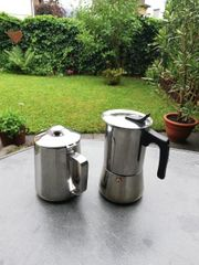 Espressokocher Milchkännchen