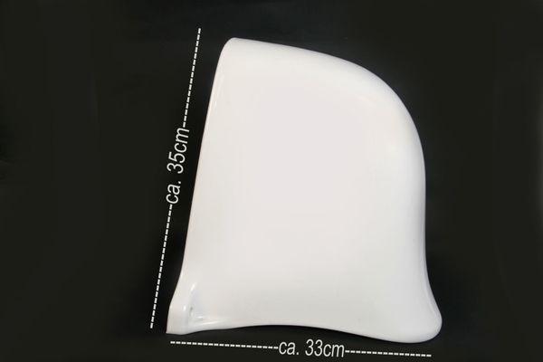 Abdeckschürze Ablaufhaube Halbsäule Waschbecken weiß