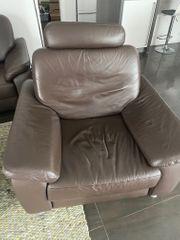 Eckcouch und Sessel