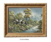 Bild Landschaft am Bach Acryl