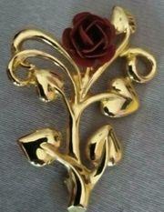 Damen Anstecknadel brosche Rose Aconda
