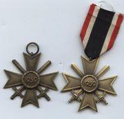 2 alte Orden Kriegsverdienstkreuz mit