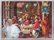 PAPST FRANZISKUS Abendmahl Deko Geschenk