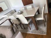 Esstisch mit 6 Stühlen Sideboard