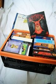 Kiste voller PC Spiele