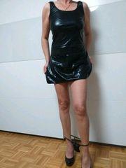 Damen Kunstleder 2 Teile Kleid