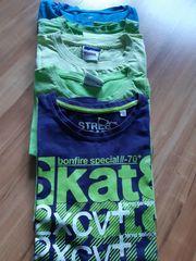 5 kurzarm T-Shirts Gr 134-140