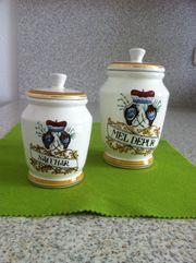 Dosen Vorratsdosen Keramik Zucker und