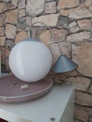 Lampe Kugel Weiss Silber