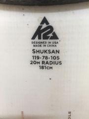 Tourenski k2 181cm bindung felle