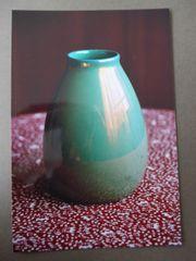 Blumenvase Bauchig Ovale Tischvase Grün
