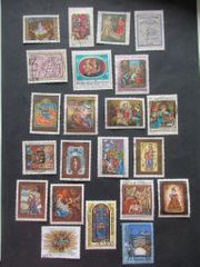 Briefmarken Österreich Weihnachtssmarken Lot 1979-2004