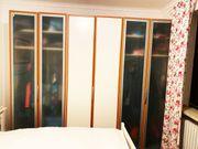 Hochwertiger Schlafzimmerschrank creme Buche Glas