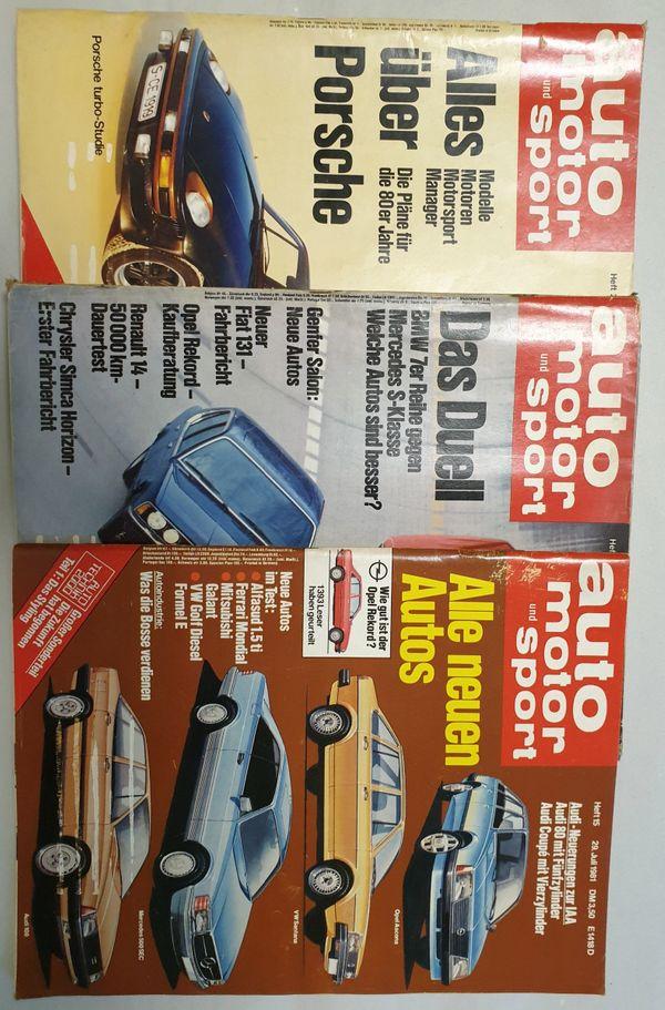 Zeitschrift Auto Motor und Sport -