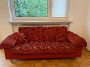 Rotes Sofa zu verschenken