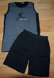 Sommer-Schlafanzug - Größe 128 - Shorty - Pyjama -