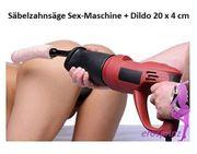 Säbelzahnsäge Sex-Maschine mit Dildo 20