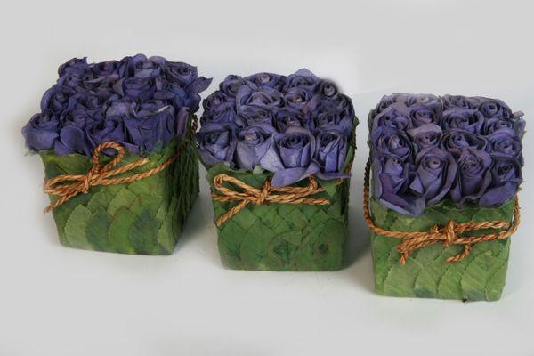 Rosenbox Flowerbox Blumenbox Kunstrosen Dekorosen