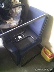 Stuhl schwingstuhl Sessel blau