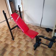 Fitness Hantelbank Beinbeuger und Beinstrecker