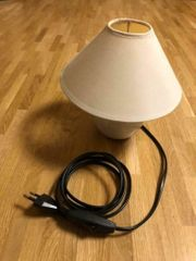 Nachttischlampe beige max 40 Watt