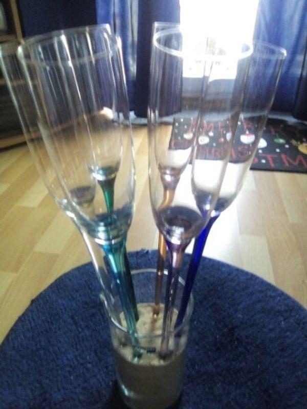 6 Champagner- bzw Sektgläser modern