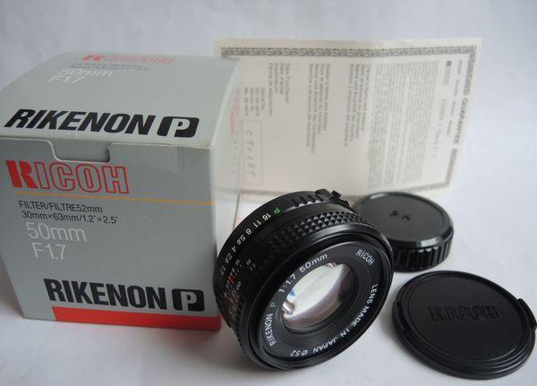 RICOH RIKENON P 50mm F1
