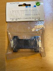 Adapter SVGA-HD15-Stecker auf VGA-Buchse DB9