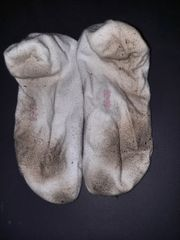 getragene Sneaker Socken ob von