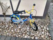 Puky Kinderfahrrad gelb blau 12