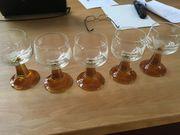 Trinkgläser Glasschälchen und Glasbowle zum