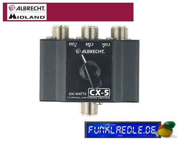 Albrecht CX-5 3-Wege Antennenschalter CB-Funk
