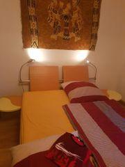hochw Doppelbett 160x200 mit Ablage