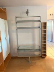 TV Rack Alu Glas