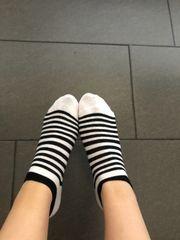 Süße getragene Socken