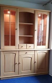 Vitrine Schrank Highboard in Erle