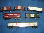 6 x LIMA H0 Güterwagen