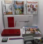 Nintendo DSi Rot Konsole-OVP 5xSpiele