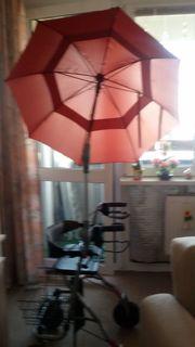 Regenschirm für Rollator oder Rollstuhl