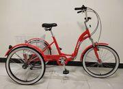 Erwachsene Dreirad Klapprahmen 24-Zoll-Räder 6-Gang-Shimano-Getriebe