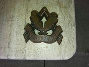 Antik Kupfer Schild Deutsche Arbeit