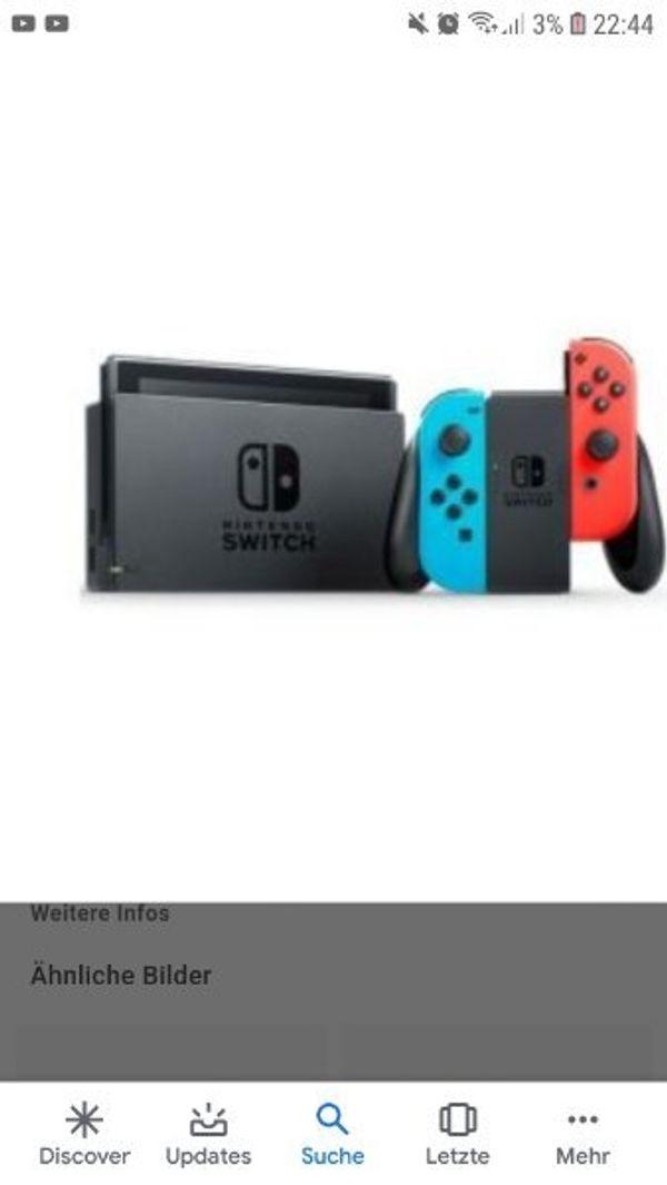 suche Nintendo Switch mit spiel