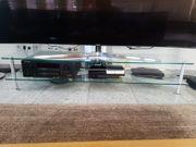Medientisch aus Glas