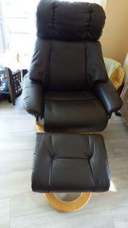 Sitzmöbel Relax-Sessel mit Hocker