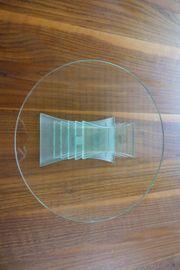 Partylite Glasplatte auf Fuß